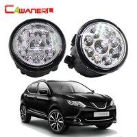 Cawanerl 2 Pieces Car LED Light Fog Light DRL Daytime Running Light For Nissan Qashqai J11