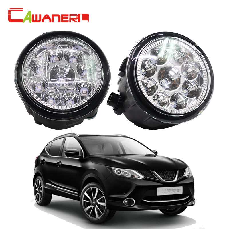 цена на Cawanerl 2 Pieces Car LED Light Fog Light DRL Daytime Running Light For Nissan Qashqai (J11, J11_) Closed Off-Road Vehicle 2013-