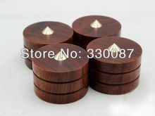 3pcs Ebony Wooden Coppy Speaker Spike Isolation Cone Base Pad