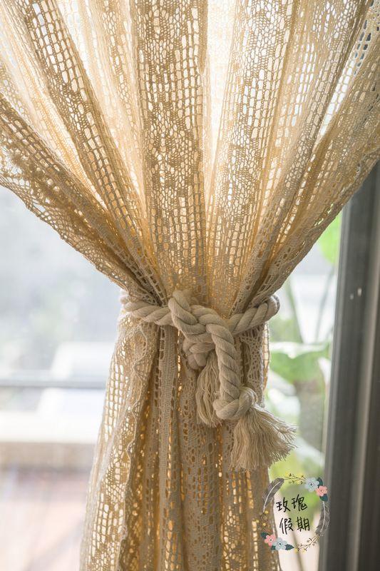 ZHH 1 дана Twisted арқан Curtain Tieback Holdbacks - Үйдің декоры - фото 3