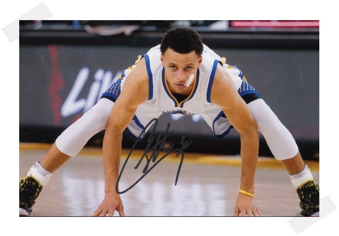 ФОТО Stephen Curry  autographed signed with pen photo 4*6 inches famous sports star  freeshipping 02.2017