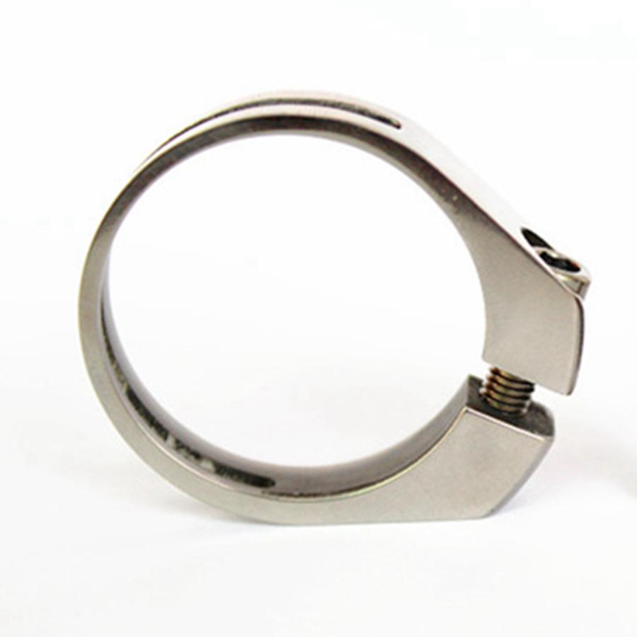 31.6mm 34.8mm Inner Dia GR5 Titanium Alloy Clamp With Bolt For Bike Seat Post зажимы blunt 2 bolt clamp oil slick