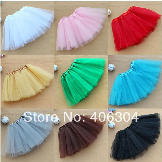 Free shipping ,tutu,Children stage dancewear in Children's day party costumes three layers Children skirt ,9 colours