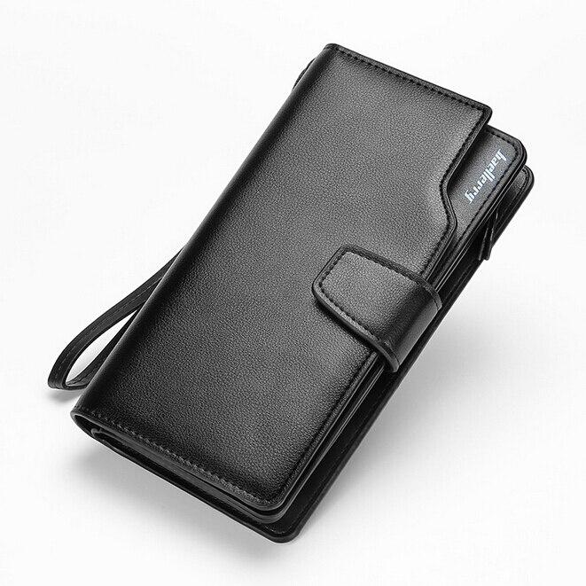 HOT! Men Long Wallet Famous Brand Luxury Male Leather Clutchs