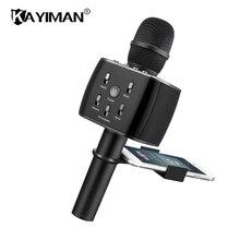 Беспроводной караоке микрофон Bluetooth Динамик трек объемный звук голоса изменение смартфон караоке микрофон для телефона