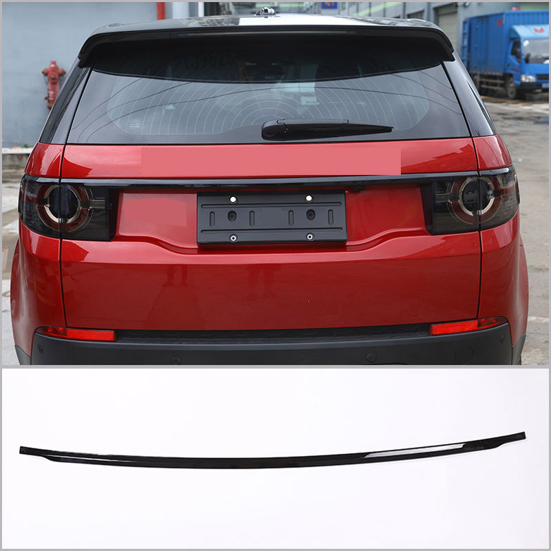 For Land Rover Discovery Sport 2015 2016 2017 ABS Chrome Gloss Black Tail Door Lid Strips Trims 1pcs sport abs chrome