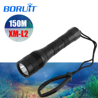 BORUIT LED XM L2 Underwater 150M Diving Flashlight Torch Scuba Diving Lantern Equipment Submarine Light For Fishing Spearfishing