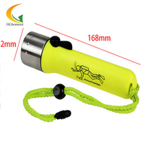 convoy diving flashlight aluminum led waterproof flashlight scuba diving Q5 led battery wrist flashlight 18650