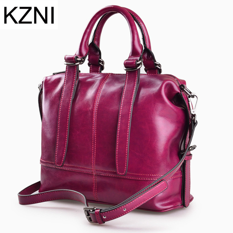 KZNI women genuine leather handbags crossbody bags for women messenger bag women leather girls bags bolsas femininas L121704