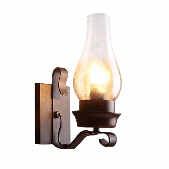 Antique Métal Éclairage Rétro En Murale Porche Edison Style De Industrielle Fer Lampe Rustique Léger Applique 5L4jA3qR