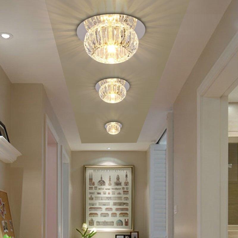 45 77 Led Cristal Lampe Plafond Couloirs Lampe Porche Lampe Plafond Salon Lampes Projecteurs Downlight Cat S Eye Plafonniers Sd122 In Plafonniers