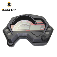 ZSDTRP Motorcycle Speedometer Digital Universal Electronics Indicator LCD Display Accessories for Cafe Racer Speedometer Yamaha