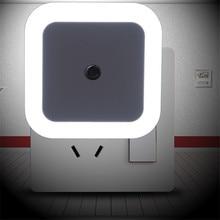 Thrisdar luz noturna led com sensor, luz noturna com tomada ue/eua, 0.5w, para sala de estar, para bebês luz do berçário