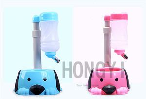 1 peça bacia do cão tigela de água automático para animais de estimação auto ajustável fonte de água potável food alimentador de dispensador de água do animal de estimação do gato do cão azul rosa