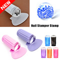 Crystal Clear Silicone Jelly Nail Stamping Stamper Tools Scraping Knife Set Round Nail Stamper  Stamp For Nail Art #91835