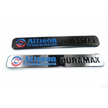 100pcs/lot  Promotion Items Chrome Plating Allison Transmission Duramax Emblem Badge Logo Nameplate
