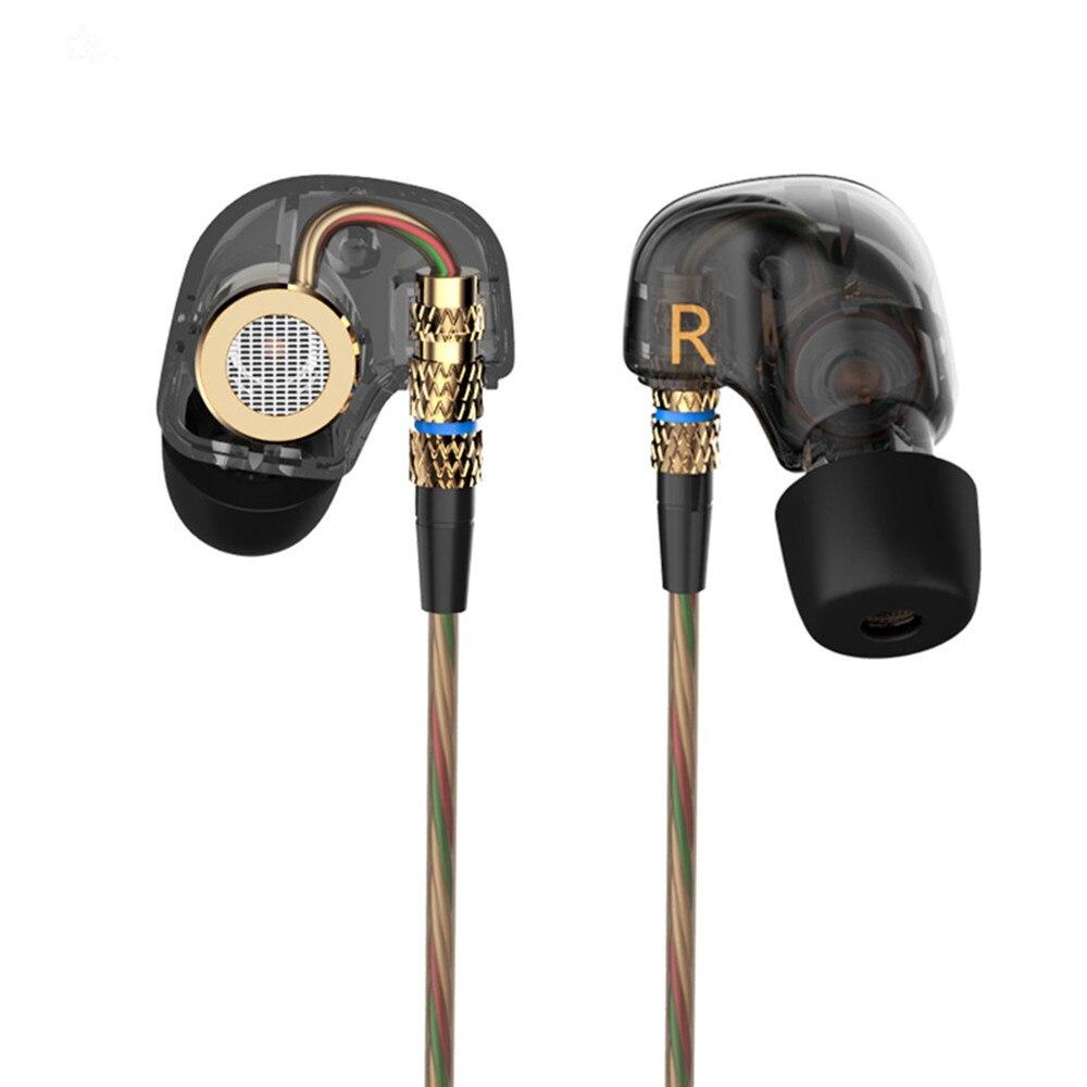 Original KZ ATE 3.5mm in ear Earphones HiFi Metal auriculares Earphone Super Bass fone de ouvido Noise Isolating With Microphone