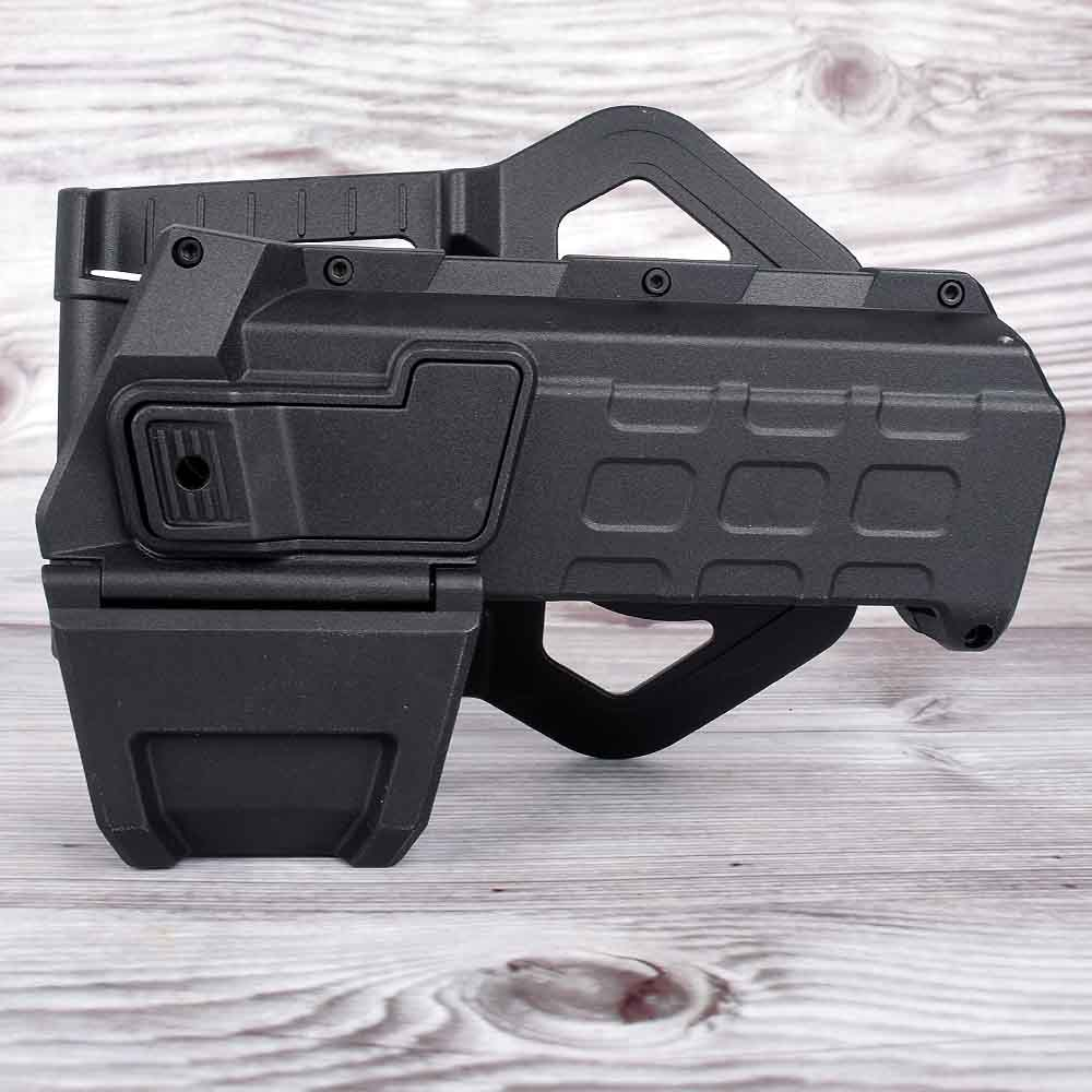 Tactical Movable Pistol Holsters For G17 G18 1911 With Flashlight Or Laser Mounted Glock Series Right Hand Waist Gun Holster