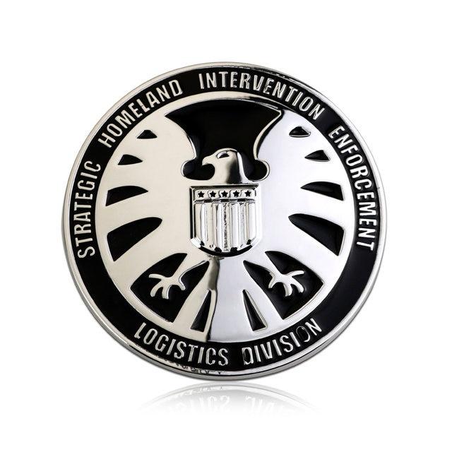 Online Shop Flyj 3d Metal Emblem Car Stickers Marvel Agents Of