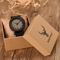 DODO DEER Saat Casual Men Watch Black Sandalwood Watches Analog Quartz Wristwatch For Male Dressing