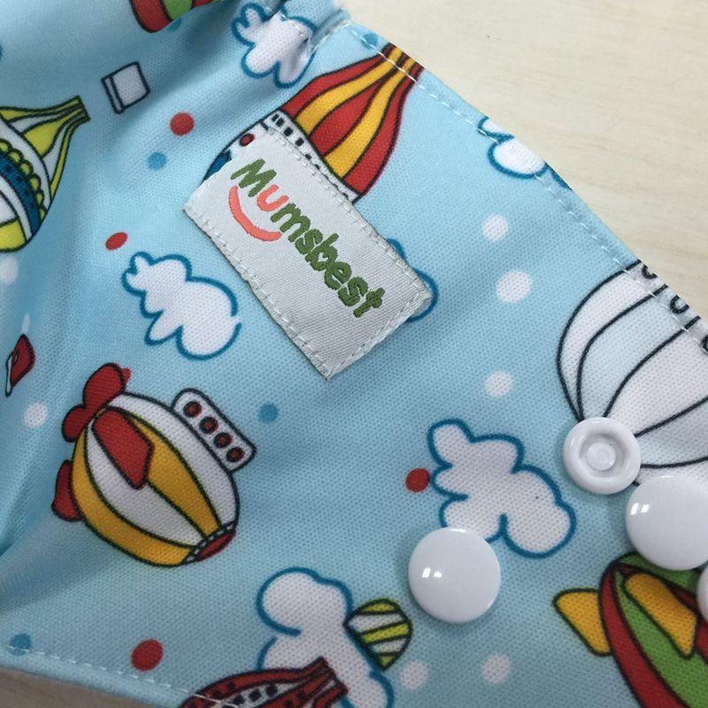 Купить с кэшбэком [Mumsbest] Baby Cloth Diapers 6pcs/Pack with Insert Baby Cartoon Reusable Washable Adjustable Waterproof Babies Nappy Set Pack