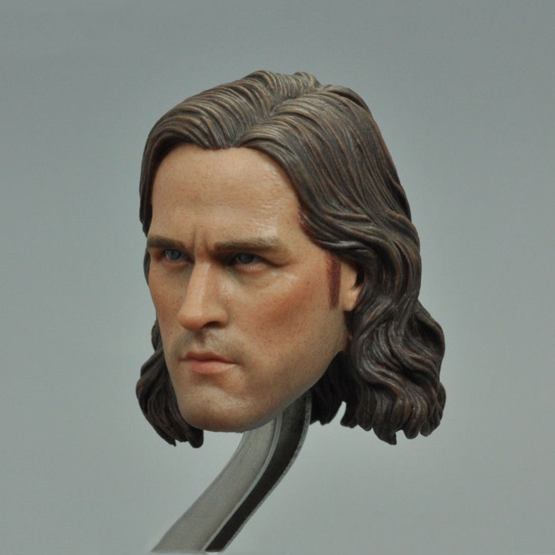 1/6 Scale Male Head Sculpts Model Toys Lifelike Man Head Carving Model For 12 Male Action Figure   Accessory the score takes care of itself