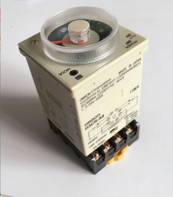 Relé de tempo de 1.2 s para 300 h 50 H3CR-A8/60Hz AC100-240V 8PIN com base de Poder de ligar e desligar relé de tempo de atraso ciclo