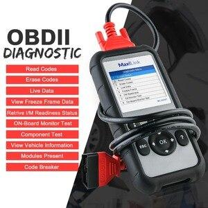 Image 2 - Autel MaxiLink ML609P herramienta de diagnóstico automático lector de código de escáner de coche OBD2 herramienta escaneo código ver congelar marco herramienta de diagnóstico de datos