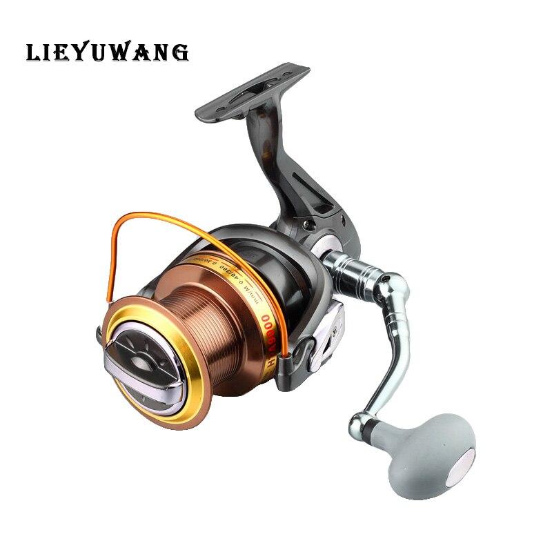 LIEYUWANG HTA8000-9000 4:6:1 12 + BB Amélioré Grande Capacité Lointain Roue CNC Métal Spinning Reel Fishing Glisser D'alimentation Bobine