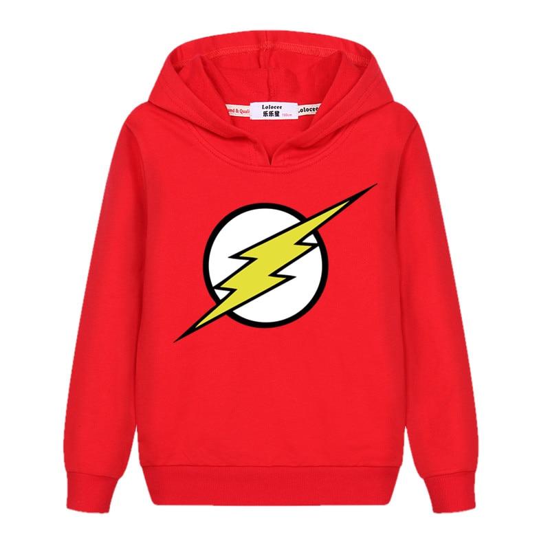 The Flash Star Red Color Kids Sweatshirt Boys Novelty Comic Super Hero Pullover Sweatshirt 2021 Children Clothes Arrow Friend 5