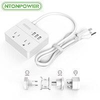 NTONPOWER OSP 2AC רצועת כוח שקע חשמלי USB Plug ארה