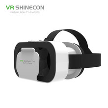 VR SHINECON 5.0 Glasses Virtual Reality 3D Glasses For iPhone/Samsung/Huawei Xiaomi 4.7-6.0 inch Phones Universal Gamepad select(China)