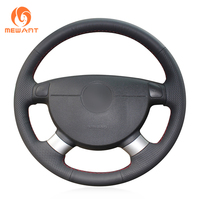 Black Leather Steering Wheel Cover For Chevrolet Lova Aveo Buick Excelle