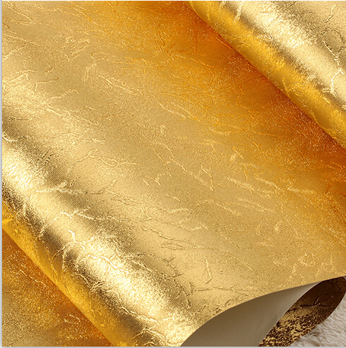 Retro Rift Gold Foil Wallpaper Modern Luxury Golden PVC Wallpaper Roll Desktop Wallpaper Ceiling bedroom background wallpaper