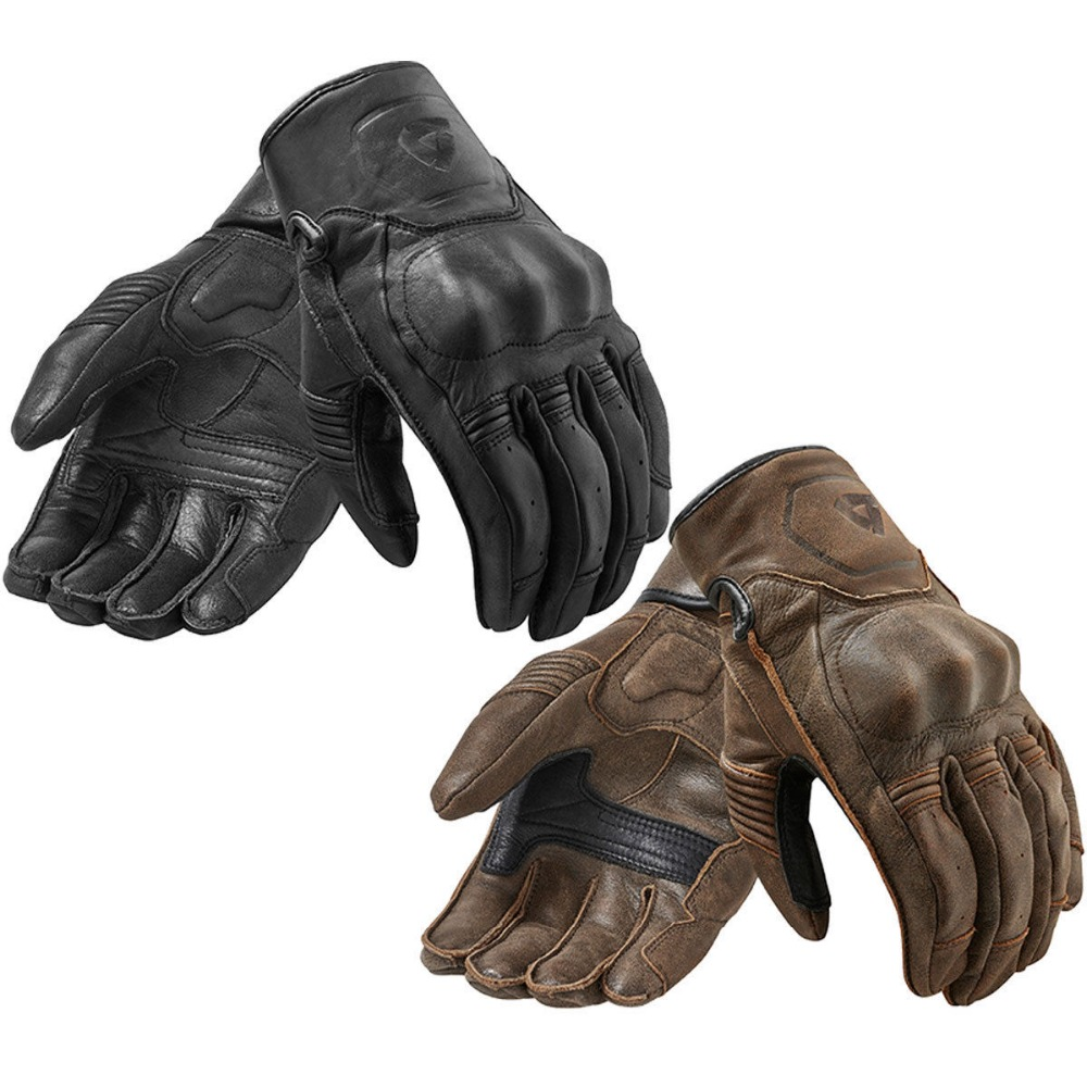 2018 New Revit Palmer Motorcycle Gloves Full Leather Retro Urban Moto Gloves short Moto GP Off Road Gloves Men&Women