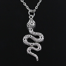 new fashion round cross chain short long Mens Womens silver snake cobra Pendants 40cm 45cm 50cm 60cm necklace
