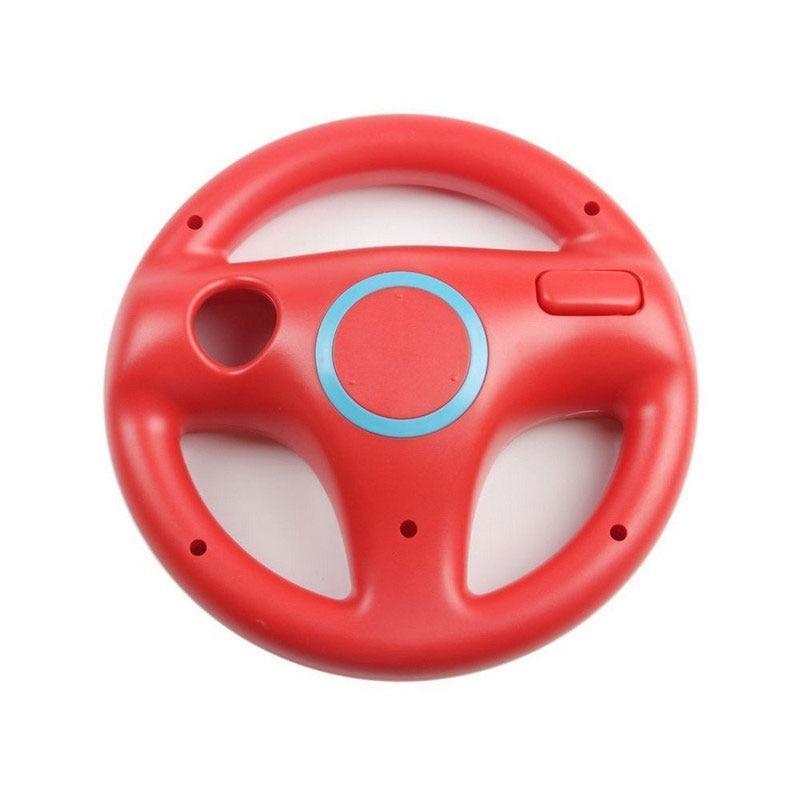 Подарок на Хэллоуин гоночная игра круглый руль пульт дистанционного управления для nintendo для wii - Цвет: Красный