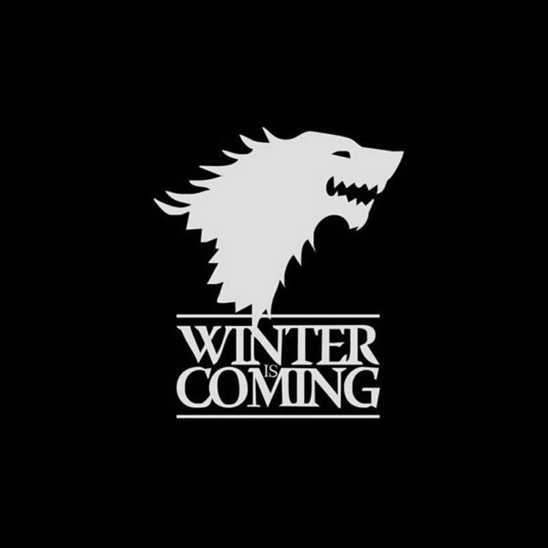 1pc Winter Is Coming Wolf Game of Thrones Car Sticker Decorative Head Of Wolf Car Reflective Window Stickers Vinyl car-tyling