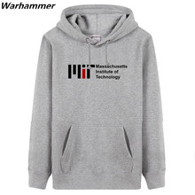 Massachusetts Institute Of Technology DIY Print Men hoodies & sweatshirts plus size solid Jackets Black Overzied pullover hooded