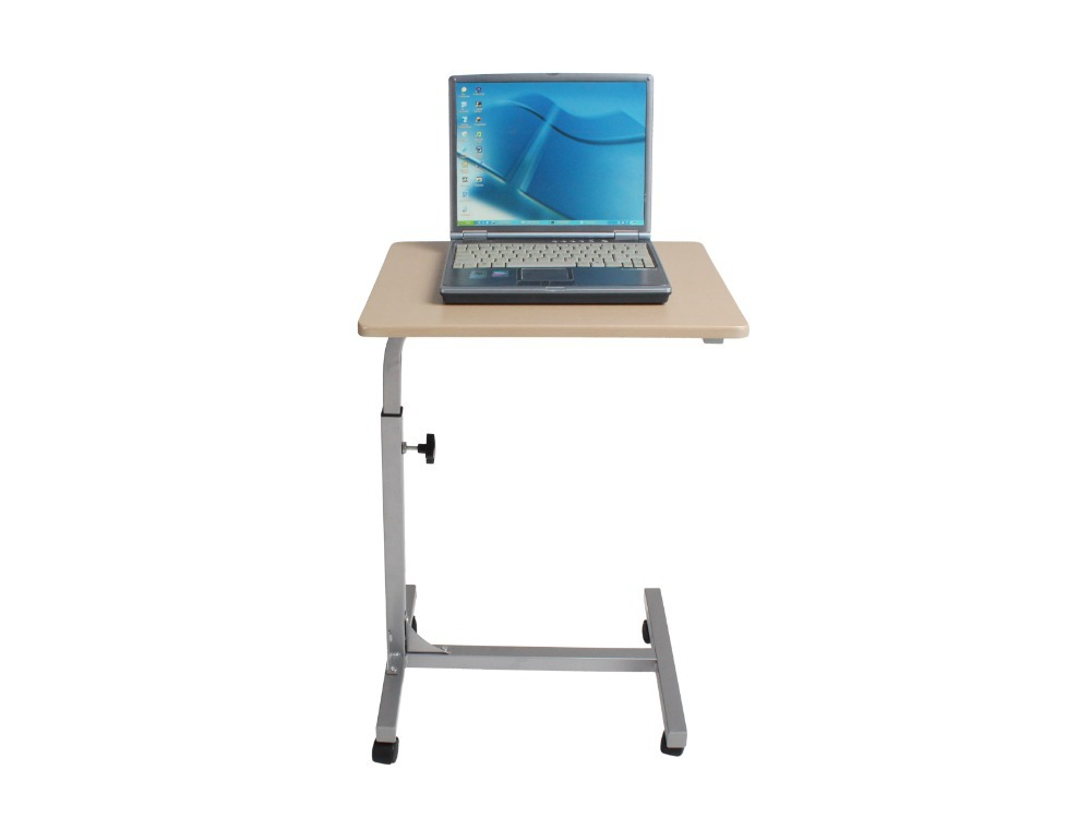 White Portable Laptop Folding Table Modern Adjustable Computer Desk ...