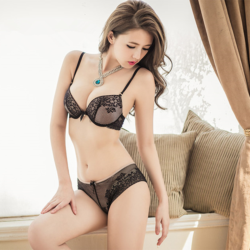 The new sexy lace Embroidery Embroidery ABC princess luxury Princess bow bra underwear s ...