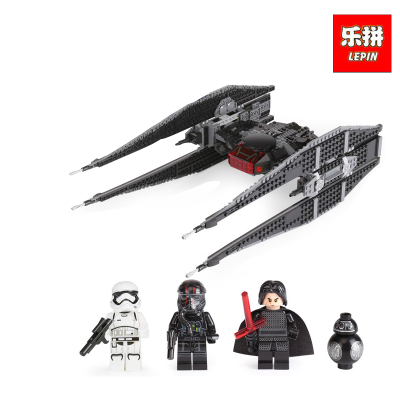 Lepin 05127 705Pcs Classic Series The Tie Model Fighter Set Building Blocks as Educational Christmas gifts LegoINGlys 75179 lepin 05127 705pcs star plan series the 75179 tie model fighter set building blocks bricks educational kids toys christmas gifts