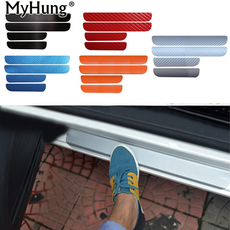 Door Sill Scuff Car Door Plate Car Stickers For Volkswagen VW Golf 6 MK6 2009-2013 Car styling Carbon fiber Car Accessories New всесезонная шина yokohama geolandar a t s g012 225 55 r18 98h