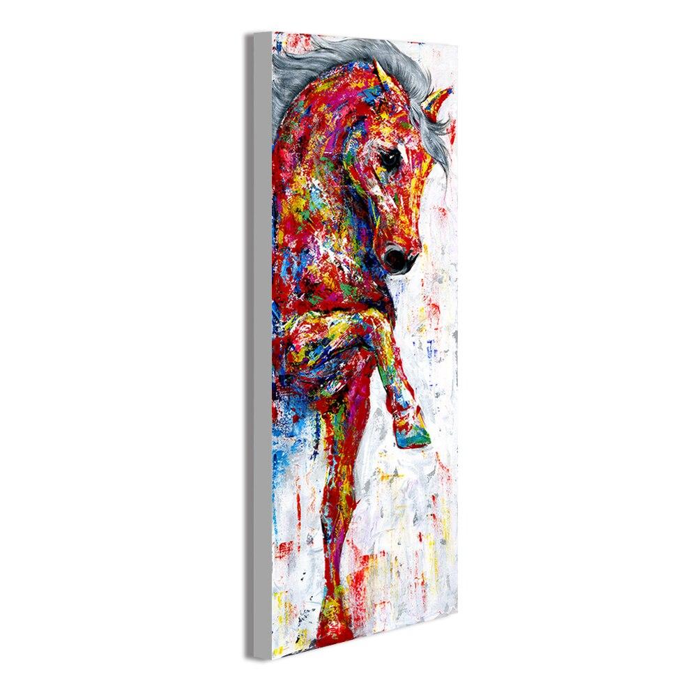 Cavalo de Passeio para Sala Sala de Estar Hdartisan Pintura da Arte da Parede Imagem da Lona Animal Print de Estar Home Decor no Frame