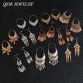 QIHE ювелирные изделия древнее золото серебро Цвет Тибетский филигрань серьги Boho ювелирные изделия Gypsy серьги коллекции серьги для женщин