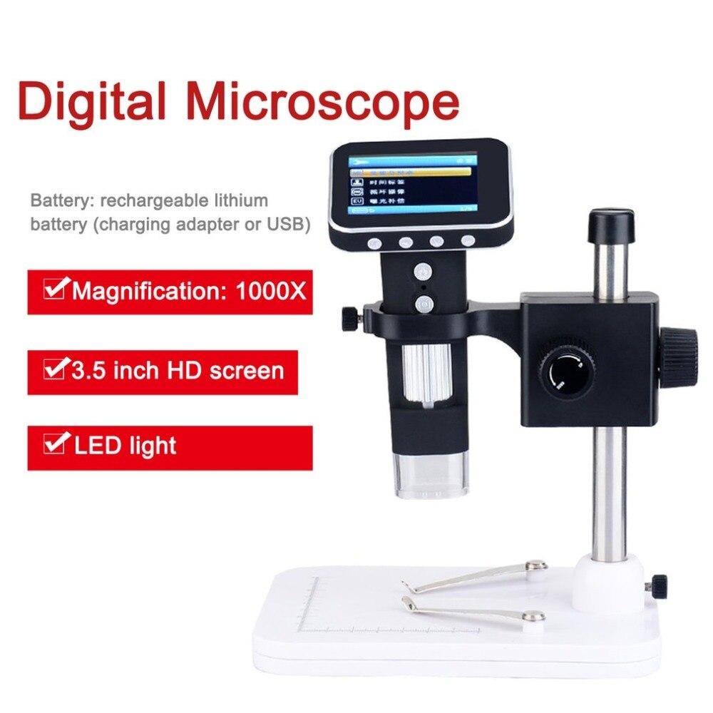 1000x Smart Digital Mikroskop Wireless Mikroskop Mit Stand Und 2,5 Inch Lcd Screen Für Fabrik Schule Wissenschaftliche Forschung Reinweiß Und LichtdurchläSsig