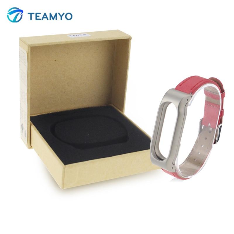 TEAMYO Xiaomi Mi Band Bracelet Mi Band 2 PU Leather Strap Belt For Mi Band 2 Pulsera Smart MiBand Replacement Bracelet