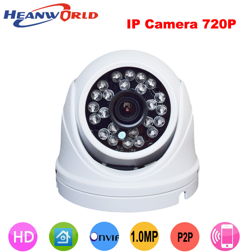 2019 Latest Design Heanworld Waterproof Ip Camera 720p Cctv Security Dome Camera Video Capture Surveillance Hd Onvif Infrared Ir Camera Outdoor Security & Protection