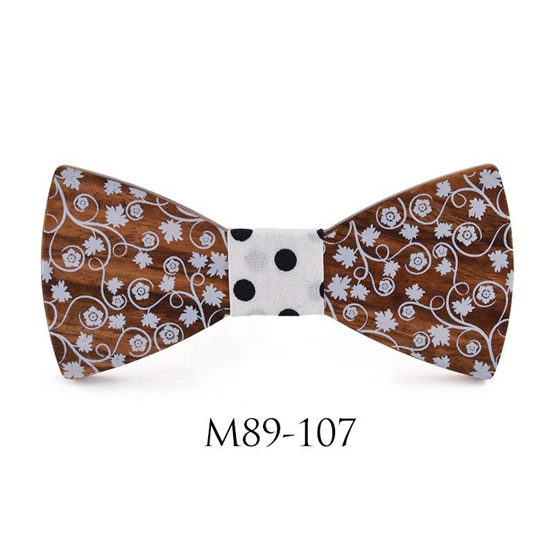 NEUE 2018 Weiß Fliege Hochzeit Bowtie Noeud Papillon Holz fliege Pajaritas Krawatte Bowties Weiblich Männlich Druck krawatten