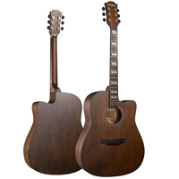 Diduo Acoustic Guitar Top Quality Picea Asperata 41 Brown Guitarra 6 Strings Guitar Spruce Musical Instruments AGT29